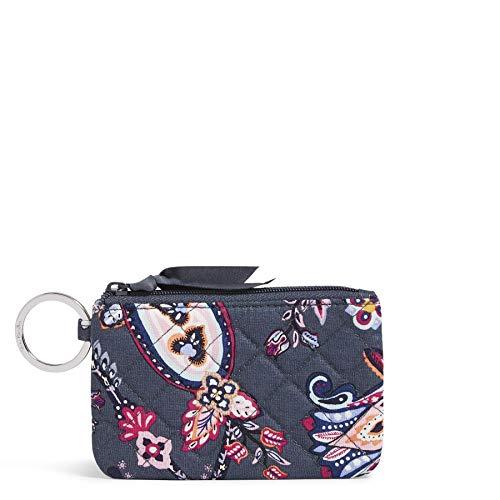 Vera Bradley Women's Cotton Zip ID Case Wallet, Felicity Paisley, One Size