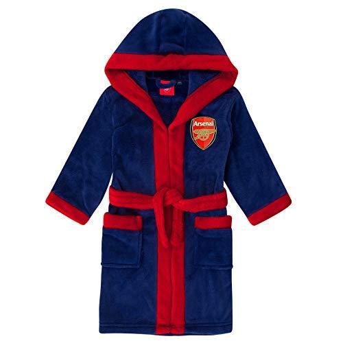 Jungen Offiziell Arsenal FC Gunners Mit kapuze Bademantel Bademantel größen von 3 bis 13 Jahre - Synthetisch, Blau, 100% polyester, Jungen, 5-6 Years