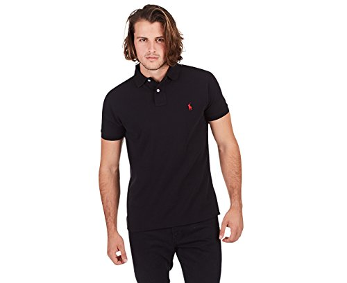 Polo Ralph Lauren Men Custom Fit Pony Logo T-Shirt (XL, RL Black)