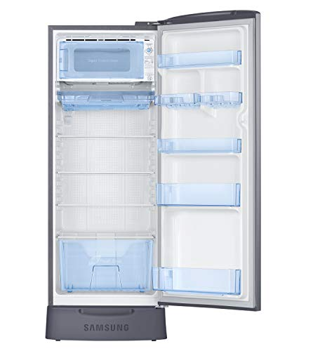 Samsung 230 L 3 Star Inverter Direct Cool Single Door Refrigerator (RR24A282YS8/NL, Base Stand with Drawer, Elegant Inox)