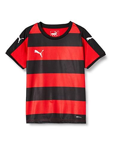 PUMA Kinder LIGA Jersey Hooped Jr T-shirt, Red Black, 116