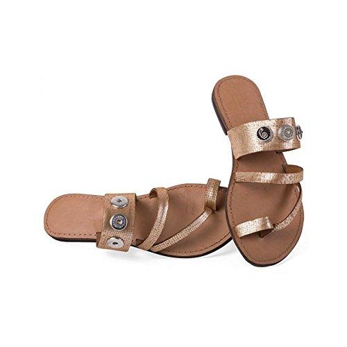 Noosa Classic Sandal brown shimmer, Grösse:Gr. 36