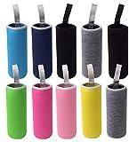 HRLORKC 10 Pack Neoprene Water Bottle Sleeve 12 oz - 18 oz Bottle Cozy Insulated Glass Water Bottle Cover (Multi-Color)
