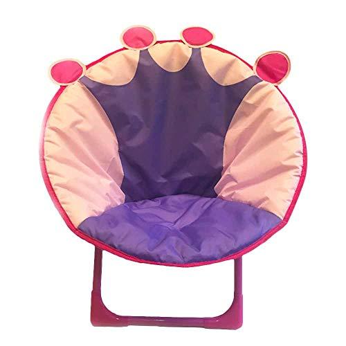JYSPT Kinder Klappstuhl Baby Stuhl Campingstuhl Schlafzimmer Stuhl für Home Outdoor Strand Camping Stuhl (Crown)