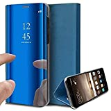 Caler Case Compatible con Samsung Galaxy S7 Edge Funda Cuero PU Espejo Brillante Clear View Modelo...