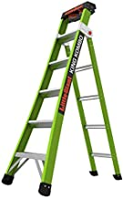 Little Giant Ladders, King Kombo, Professional, 6 Ft. A Frame, 10 Ft. Extension, Fiberglass, Type 1AA, 375 lbs Weight Rating, (13610-001)