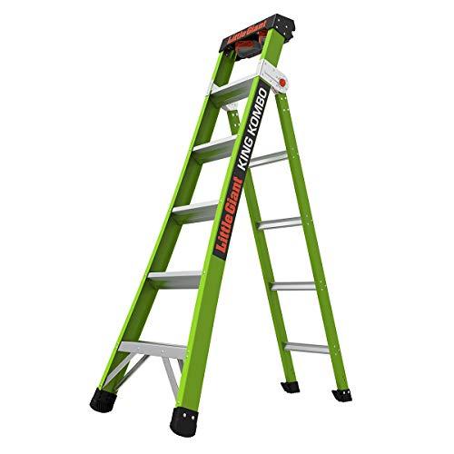 Little Giant Ladders, King Kombo, Professional, 6 Ft. A Frame, 10 Ft....