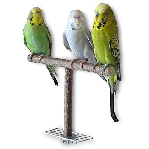 1 perca de pájaro, soporte de madera natural, perca de loro, jaula de pájaros, juguete para escaleras, parrot stand perch para pequeño mediano