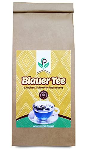 Blauer Tee,Großpackung 100 g | edle Anchan-Blütenaus organischem Anbau in Thailand|ganze Blüten| Schamblumen | Schmetterlingserbse| Naturprodukt| vegan | Butterflypea