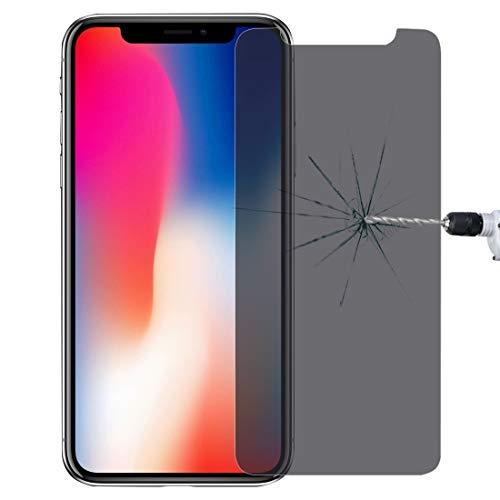 YANGJ Voor iPhone X 0.3mm 9H Oppervlaktehardheid 3D Privacy Anti-verblinding Niet-volledig Scherm Gehard Glas Screen Protector Glas Telefoon Screen Protectors