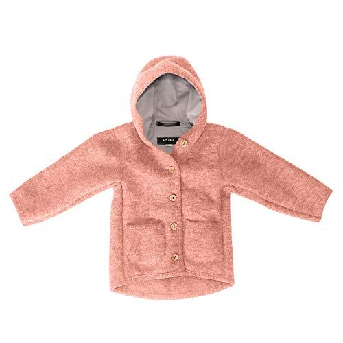 Halfen Walkjacke Kinder (Made in Germany) – Bio Wollwalk Jacke für Mädchen und Jungen mit Kapuze, aus 100{8841c83099bc99f91b205e0a0d7c6e89ed844d4a50e5fd8f879d1567ecbd1060} Natur Schurwolle, Wolljacke Baby für Jede Jahreszeit, temperaturregulierend, Größe: 110 116
