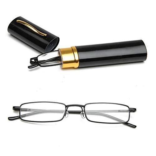 YANSHG® Metal frame Reading Glasses Rimmed Unisex With Tube Case...