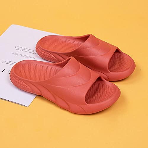 Dames Douchepantoffels,EVA Mannen en vrouwen slippers, effen kleur open aandelen-Pompoen_39-40,Douche Sandalen