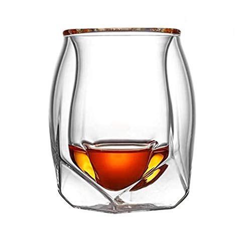 7°MR Copas de Vino 4 Unidslote Gran Bretaña Glen Norlan Whisky Rock Glass Doble Cubierta Whisky Wine Cup XO Chivas Brandy Snifer Der Whiskybecher