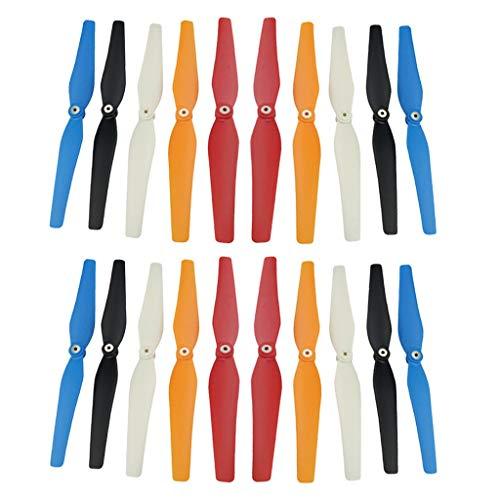 Parti di ricambio RC 20 pezzi Kit rotore per elica in plastica a cinque colori per elica per quadricottero Syma Aereo a quattro assi Sostituzione drone RC Fai da te, accessori di ricambio RC