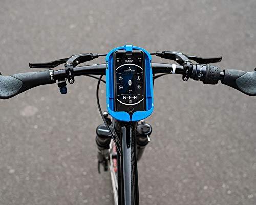 SMINNO® Unisex – Erwachsene CESAcruise S Universäller Smartphone Halter & Freisprecheinrichtung, Fahrrad, E-Bike, Roller, Cockpit mit APP Blau