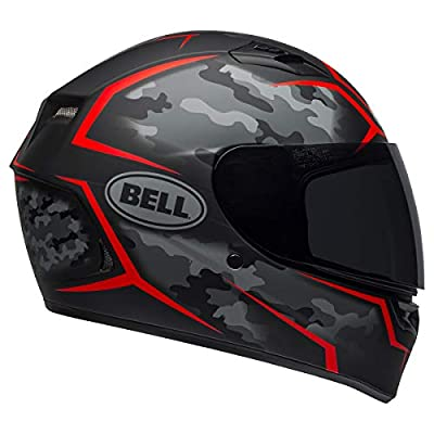 Bell Qualifier Full-Face Motorcycle Helmet (Stealth Camo Matte Black/Red, X-Large) from Bell