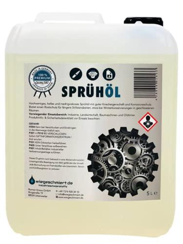 Knaus Schmierstoffe 5 Liter Sprühöl Korrosionsschutz Sprühöl Hohlraumschutz, 5L Kanister