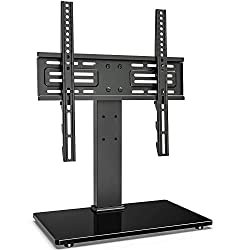 powerful FITUEYES 27-55 inch LED LCD TV Universal Rotating TV Stand Height Adjustable TV Stand…