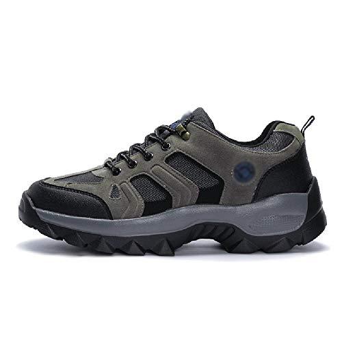 Trekking Jogging Calzado Deportivo Calzado Ligero para Acampar Al Aire Libre Montañismo Zapatillas Transpirables para Caminar Hombres Mujeres Turismo Calzado Casual,Grey-47