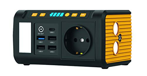 KODAK PPS100 Pro Portable Power Station mit 85,8 Wh Lithium-Ionen-Akku, mobiler AC/DC Steckdose, 1x USB-C, 2X USB Qualcomm Quick Charge Port