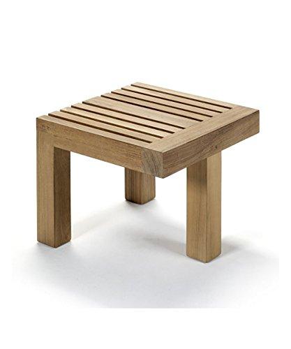 WUFENG Tabouret Porte-Pieds Portable Petit Banc avec siège Creux, Couleur Bois, 9 * 39 * 31cm