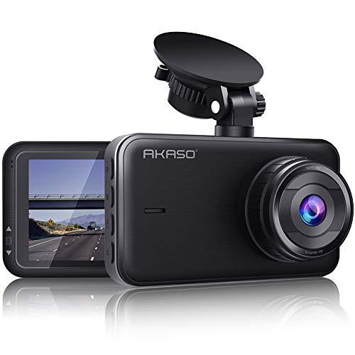 AKASO Dashcam 1080P FHD (2. Gen.) DVR Autokamera 3 Zoll IPS-Bildshirm Dash Cam 170° Weitwinkel G-Sensor Super Nachtsicht, WDR, Parkmonitor, Loop-Aufnahme, Ermüdungserinnerung (C320)