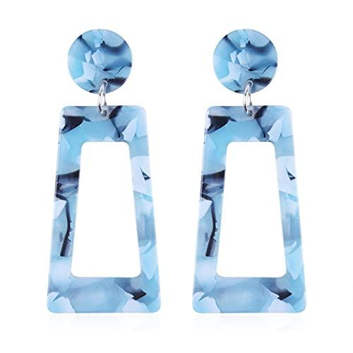 Pendientes Mujer Accesorios de moda Pendientes geométricos largos cuadrados de color-1