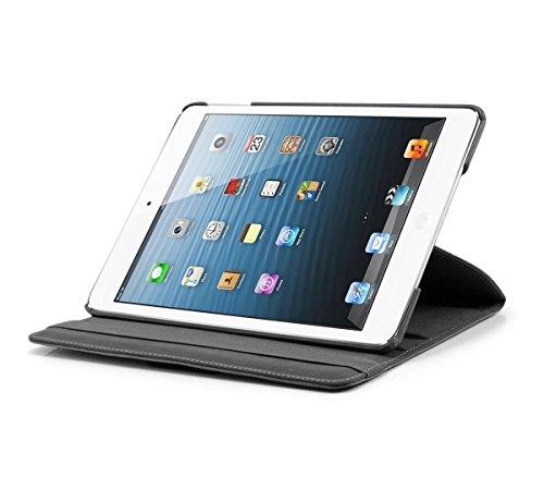 KHOMO Schutzhülle für Apple iPad Air, PU-Leder, 360 Grad drehbar, mit Magnetverschluss, Schwarz