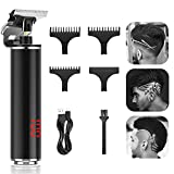 T Blade Trimmer,Teamyo Upgrade Zero Gapped Trimmers with LED Display,Rechargeable Outliner Trimmer 0mm Baldhead Cordless Hair Clippers for Men,Professional Electric Pro Li Outliner Hair Trimmers