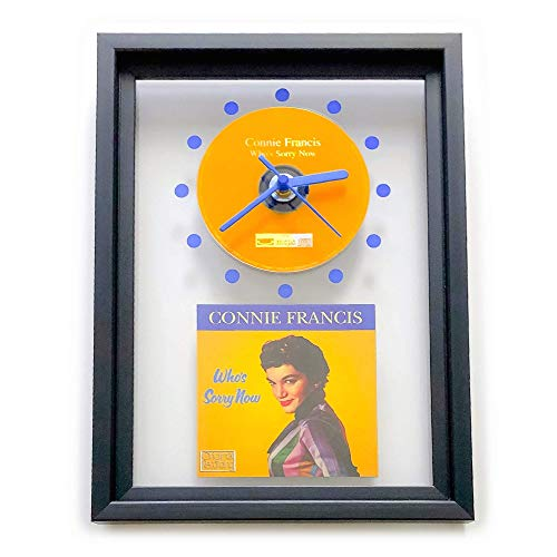 CONNIE FRANCIS - Who's Sorry Now: GERAHMTE CD-WANDUHR/Exklusives Design