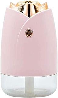 Hamkaw Portable Mini USB Humidifier, 230ml 45ml/h Ultra Quiet Led Night Light Small Cool Mist Humidifier Auto Shut-Off Bedroom Car Home Office Desk Used