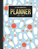 5-Year Monthly Planner 2021-2025: Dated 8.5x11 Calendar Book With Whole Month on Two Pages / Red White Blue Bowling Ball Pin - Art Pattern / Organizer ... - Charts / 60-Month Life Journal Diary Gift