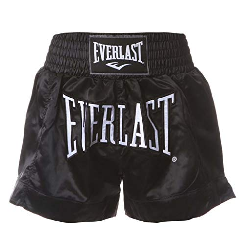 Everlast Erwachsene Hose Thai Boxing Short, Black, XL
