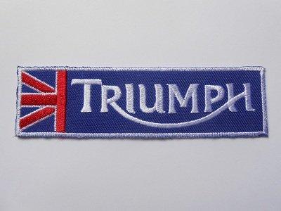 Parches - Triumph - azul plata - Car - Motorbike - Motorsport Motorcycles - Biker - Iron on Patch - Aplica Embroidery escudo bordado