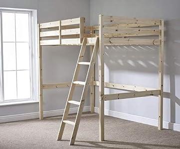 Camas y desván camas - literas alta para dormir,Brown