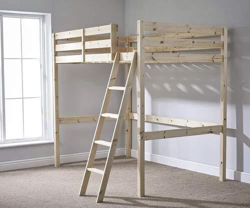 SWAOOS Beds and loft beds - bunk beds sleeping high,Brown