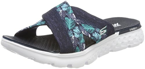 Skechers Mädchen On-The-Go 400-Tropical Sandalen, Blau (NVY), 36 EU