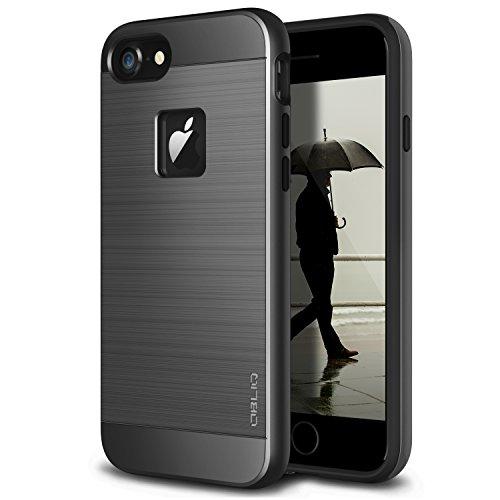 OBLIQ [Slim Meta] Designed for iPhone 8 Case, iPhone 7 [Military Grade Certified] Slim Metallic Brushed Premium Dual Layer Protection for iPhone 8 (2017), iPhone 7 (Black Titanium)