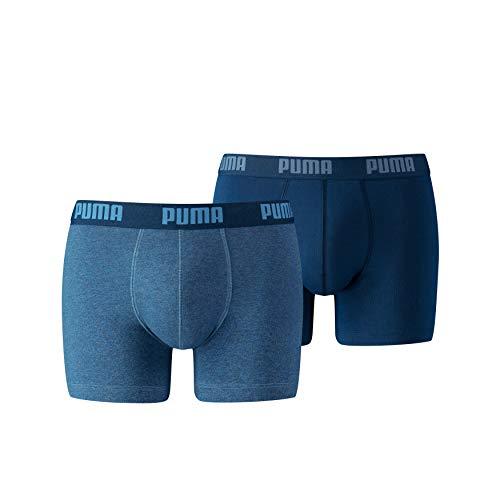 PUMA Herren Basic Boxer 2P Unterwäsche, Blau (denim), M