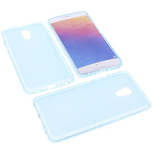 foto-kontor Tasche für Meizu Pro 6 Plus Gummi TPU Schutz Handytasche blau