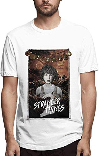 Z-Wolf Stranger Things Graphic White T-Shirts Men's Print Sh