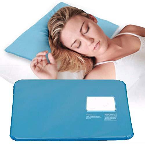 Almohada de gel de enfriamiento, inserto de almohadilla reutilizable Cool Pad Mat Ayuda a mejorar la calidad del sueño y la temperatura óptima para dormir, enfriamiento, calmante