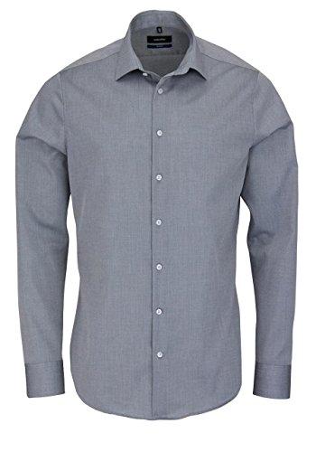 Seidensticker Herren Tailored Fit Businesshemd, Grau (Anthra 32), 43