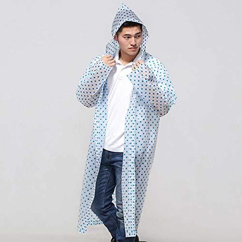 ASOSMOS Langlebig Regenmantel Portable Regencape Poncho mit Hut Kapuze für Damen Herren Outdoor Reise - Blau