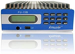 Fmuser Fu-15b 0w-15w Premium Professional Pc Control Fm Transmitter with Gp100 Antenna and Power Supply and Audio Cable