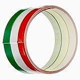 4R Quattroerre.it 10640 Strisce Adesive Tricolore Racing Stripe per Moto, 35 mm x 2 mt