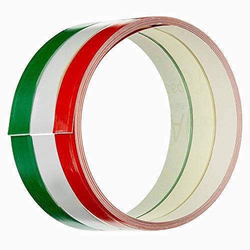 4R Quattroerre.it 10640 Klebestreifen für Motorräder dreifarbige Flagge Italien, 3.5 cm x 2 mt, m