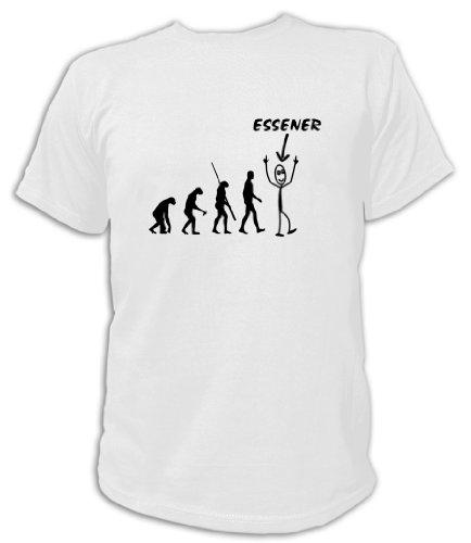 Artdiktat T-Shirt Essener Evolution Unisex, Größe L, weiß