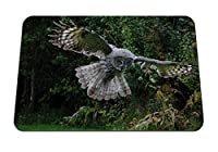 22cmx18cm マウスパッド (フクロウ鳥飛行翼フラップ捕食者) パターンカスタムの マウスパッド